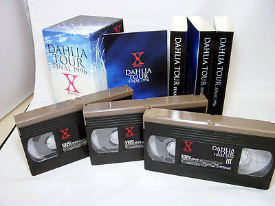 X JAPAN LIVE. DAHLIA FINAL 1996 TOKYO DOME. MUSIC VIDEO VHS TAPE. Hide, Toshi, Y