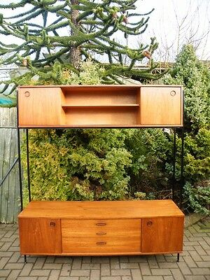 Mid Century Teak 1960s Modular Wall Unit / Sideboard / Credenza / Bookcase