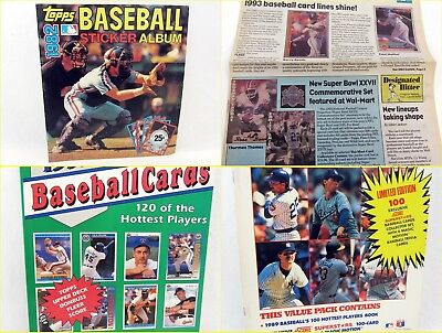 4 Lot - Baseball 1982 Sticker Album, 1989 & 1992 Cards, Treat Collectors Digest