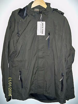 Jack Pyke Technical Featherlite Jacket Waterproof Breathable Large Hunters Green