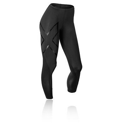 2XU Elite MCS Thermal Womens Black Compression Long Tights Sports Bottoms