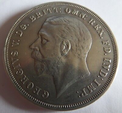 1935 Rocking Horse silver crown coin George V