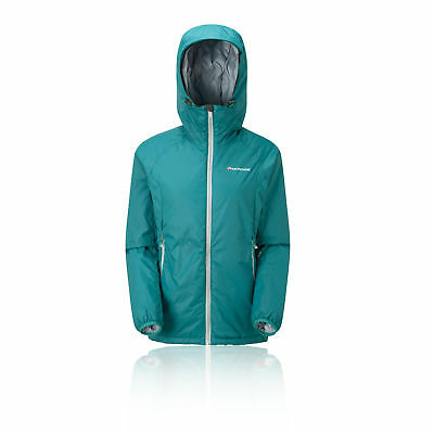 Montane Prism Womens Green Water Resistant Outdoors Hooded Zip Jacket Top