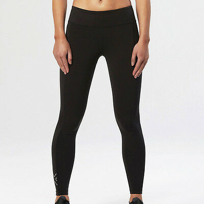 2XU Active Womens Black Compression Long Tights Running Sports Bottoms Pants