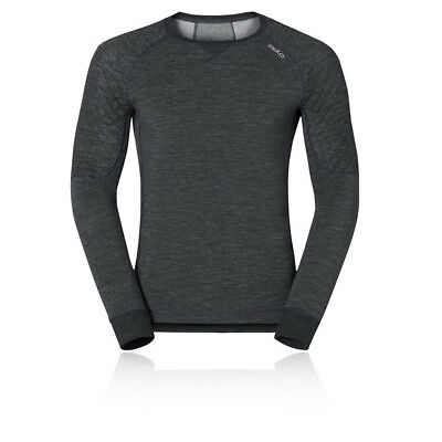 Odlo Revolution X Warm Mens Black Long Sleeve Crew Neck Running Sports Top