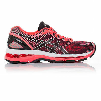 Asics Gel Nimbus 19 Womens Pink Cushioned Running Road Shoes Trainers