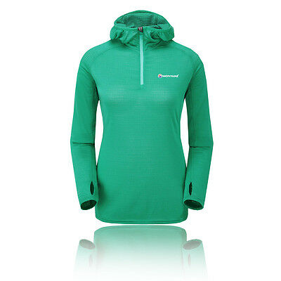 Montane Allez Micro Womens Green POLARTEC Long Sleeve Hoodie Hoody Top M