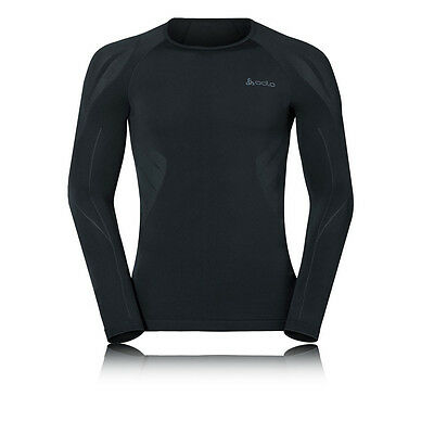 Odlo Evolution Light Mens Black Long Sleeve Crew Neck Warm Running Top