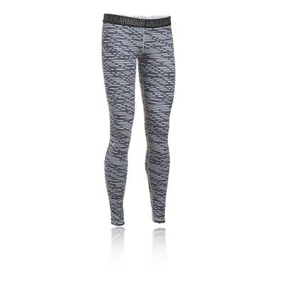Under Armour Favorite Print Womens Grey Training Long Tights Bottoms Pants
