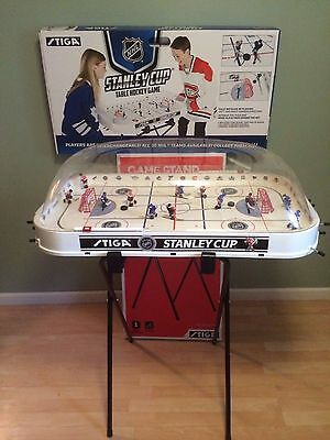 FAMILY Bubble Hockey GAME Adjustable STAND 4 Hand-Painted NHL Teams STIGA 2017