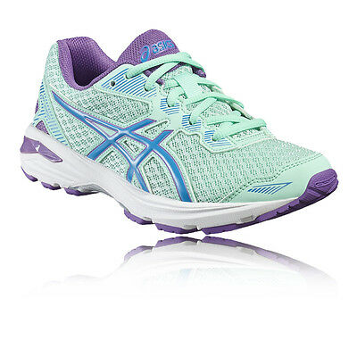 Asics GT-1000 5 GS Junior Green Purple Support Running Road Shoes Trainers
