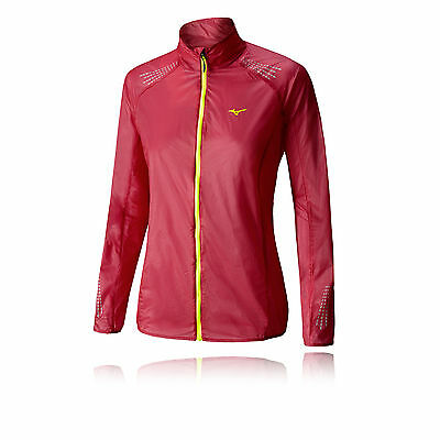 Mizuno Lightweight 7D Womens Pink Red Trail Water Resistant Windproof Jacket L