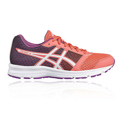Asics Patriot 8 Womens Orange Purple Cushioned Running Sports Shoes Trainers