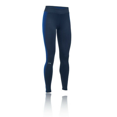 Under Armour Coldgear Womens Blue Compression Running Gym Long Tights Pants