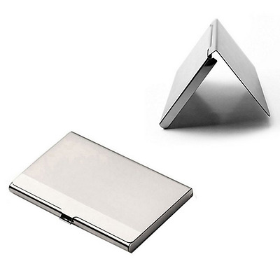 Holder ID Stainless Credit Silver Waterproof Business Card Case Namecard Clip