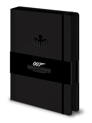 James Bond Premium A5 Notebook - Spectre Logo Leather Effect Embossed