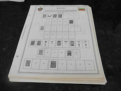 M22 Lot of Bulgaria 61 Minkus binder Pages 1882-1977 with stamps