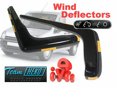 Team HEKO Tinted Wind Deflectors 2Pc Ford Transit Connect 2004