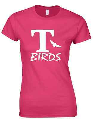 T Birds Ladies T Shirt Movie Novelty Grease Pink Lady Sandy Rydell High Party