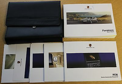 Genuine Porsche Panamera Handbook Wallet Manual 2009-2013 Pack 1337 !