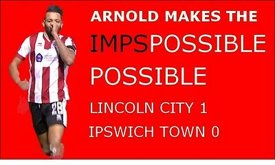 Lincoln City The Imps Nathan Arnold three to choose from Jumbo Fridge Magnet