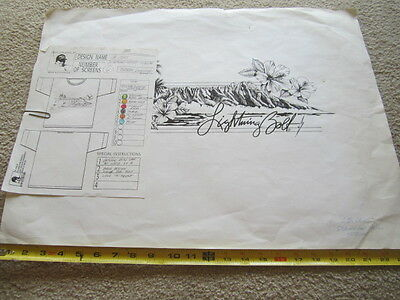 old ORIGINAL LIGHTNING BOLT 1990S WORK ORDER FORMS FOR T- SHIRT