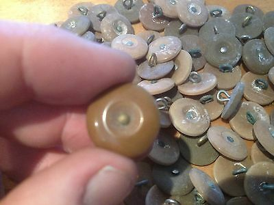 100 x WW2 British Army Economy Battledress Jacket and trouser buttons