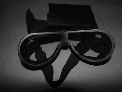 Vintage WW11 Leather aviator,motorcycle goggles *2