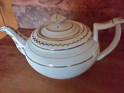 Royal Crown Derby white and gold teapot 1782 - 1800