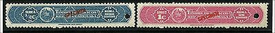 """Guatemala ca. 1910, Fiscal stamps TABACO TAX , 2 values, overprint """"SPECIMEN"""""""
