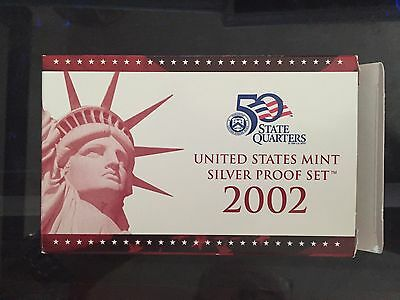2002-S U.s. Mint Silver Proof Set - With Box And Coa