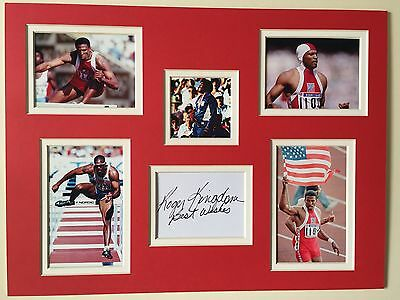 "Athletics Roger Kingdom Signed 16"" X 12"" Double Mounted Display"