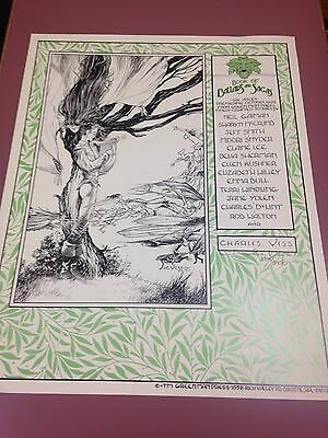 Charles Vess, signed Promo Poster, Ballads and Sagas