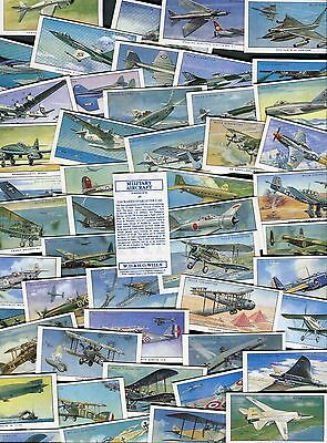 """Imperial Publishing 1991 Set Of 50 """"military Aircraft"""" Cigarette Cards"""