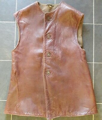 WW2 Leather Jerkin. Large, Exceptional Condition. Army, Marines, Home Guard.