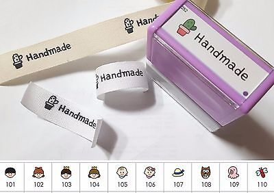 Customize fabric transfer Stamps customise Name stamp DIY Craft Cotton labels