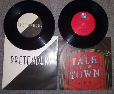 2 x PRETENDERS '' BRASS IN POCKET'' & ''TALK OF THE TOWN  (pic sleeve records)