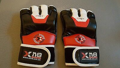 XN8 Black Red And White Leather Sparring Gloves