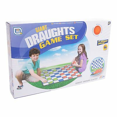 Giant Outdoor Draught Game Set Fun Summer Kids Board Games