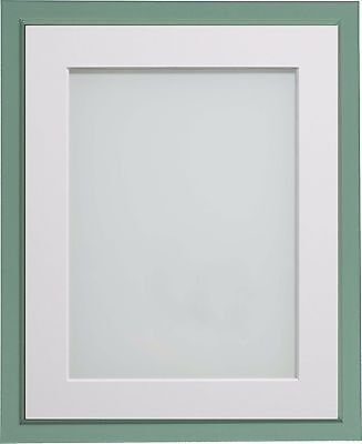 Green Drayton Range Picture Photo Frames With Choice of Mount Colours