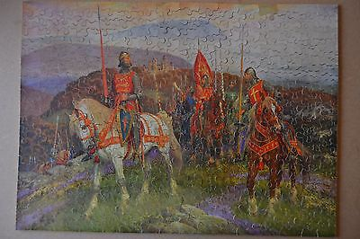 Vintage 30's Chad Valley GWR wooden jigsaw puzzle King Arthur on Dartmoor
