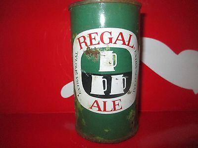 COLORFUL REGAL ALE 12oz. FLAT TOP COLLECTIBLE  BEER CAN. MIAMI, FL. 1957