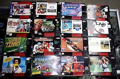 Super Nintendo SNES Sports Games Lot(16). ***Read Carefully** Fast Shipping