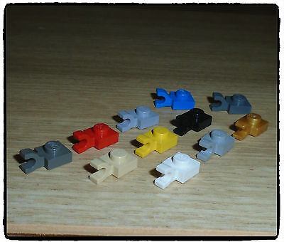 LEGO 6019 Plate, 1 x 1 with Horizontal Clip ~SELECT COLOUR~ 6 incl.