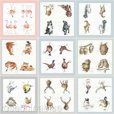 Wrendale Designs Countryside Animal Paper Lunch Napkins Pack Of 20