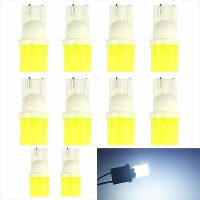 10pcs  Car Wedge Side Light T10 194 COB W5W LED White DC 12V Instrument Door
