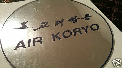 AIR KORYO Korea Plate Label sticker sign tag Catering Crew menue Ilyushin safety