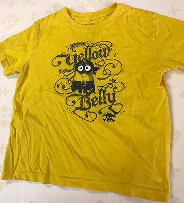 Universal Studios Kids Minion Yellow Comfy Unisex 5/6 S/S Tee T-shirt Top *visit