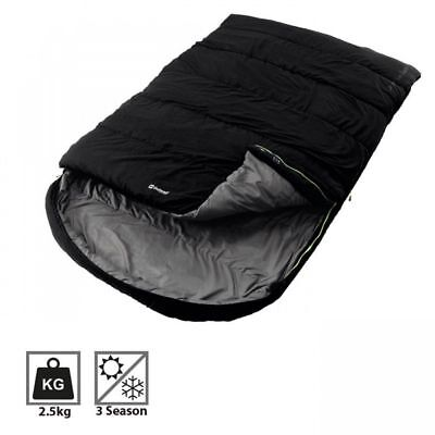 Outwell Campion Lux 3 Season Double Mummy Camping Sleeping Bag - Black