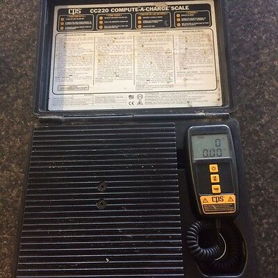 CPS Corporation CC220 Refrigerant Charging Scale 220 lb Cap. Free Shipping